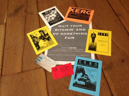Xero Flyers and Tickets 1998
