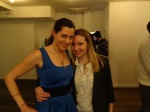 With publicist Katy Hershberger