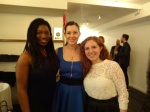 With publicists Michelle Addo and Kalli Dionysiou