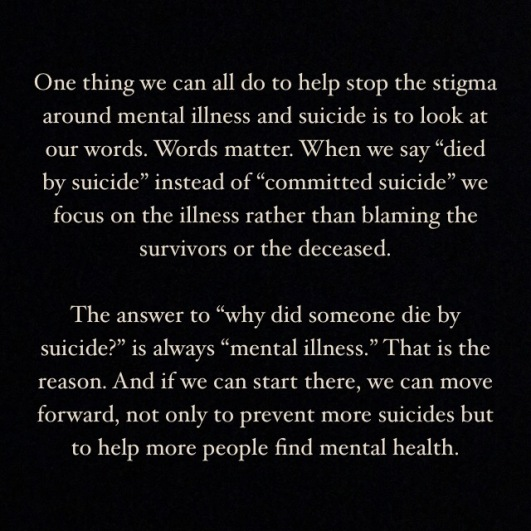 Image result for stop saying committed suicide say died by suicide